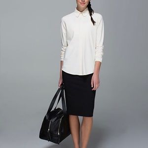 Lululemon day trip button up blouse